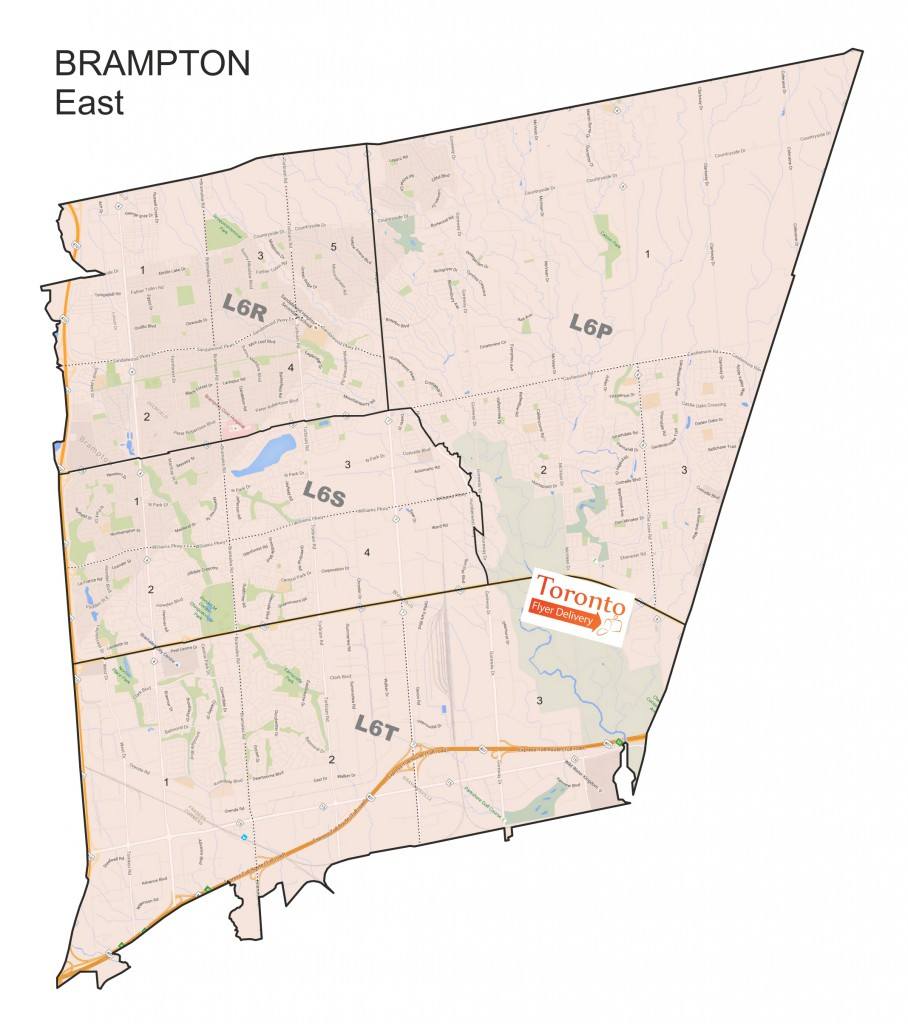 Maps Toronto Flyer Delivery